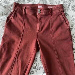 GAP High Rise Skinny Chinos Red Wine Size 4